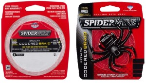 SPIDERWIRE STEALTH CODE RED BRAID