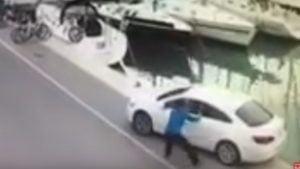 Ψαράς ξέχασε να βάλει το χειρόφρενο στο αυτοκίνητό του δίπλα στην προβλήτα…