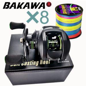 Baitcasting Reel High Speed 8:1:1 Gear Ratio 17+1BB